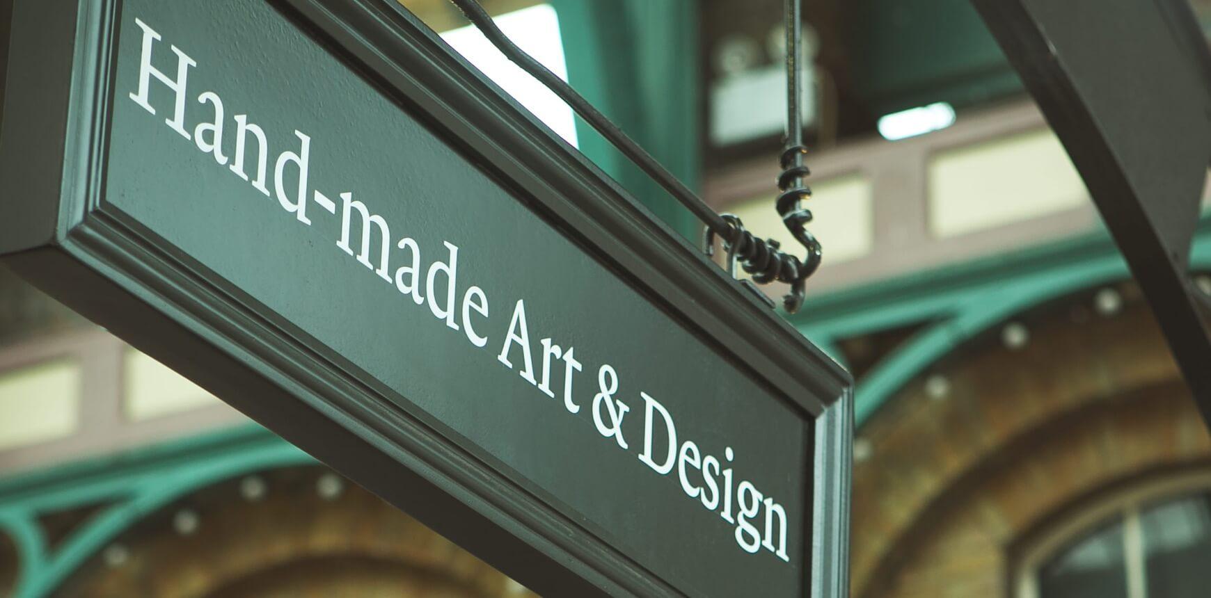 Hand-made Art & Design Sign
