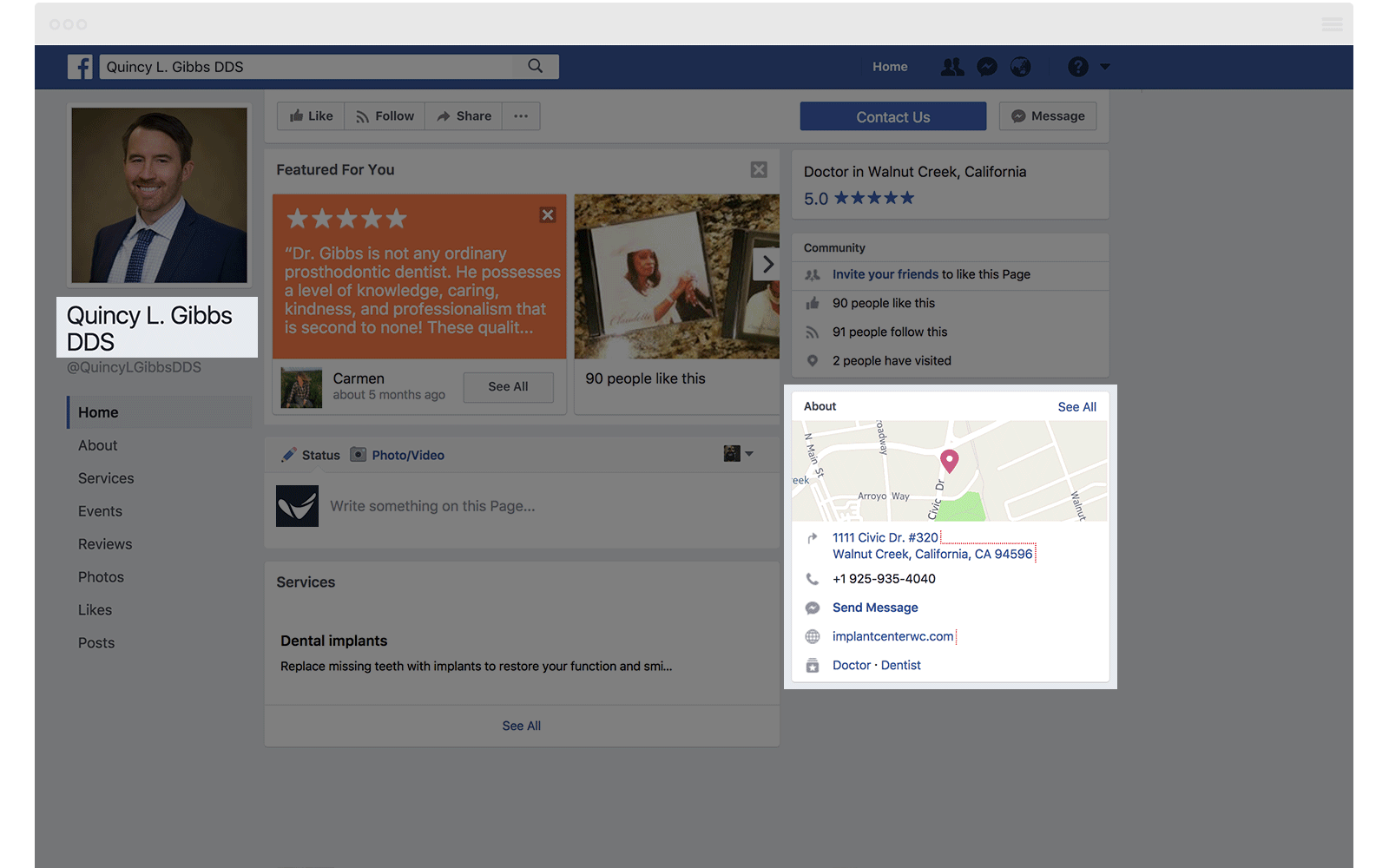 Facebook Local SEO Citation Quincy Gibbs