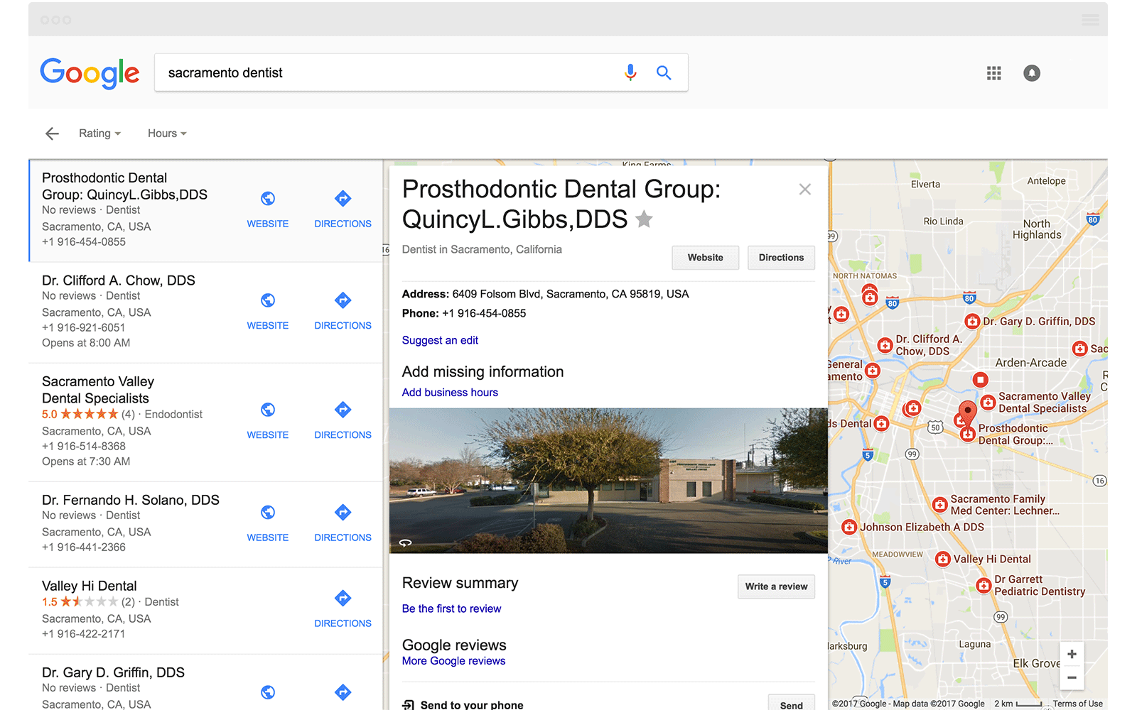 Local Finder Sacramento DDS