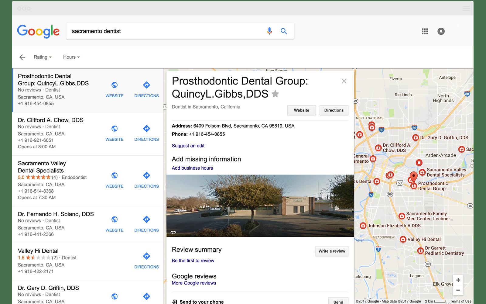 Local Finder Sacramento DDS
